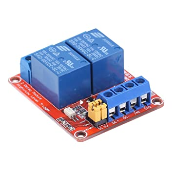 RoboMall 2 Kanal Relay Relais 5V High//Low Level Trigger einstellbar Arduino Raspberry