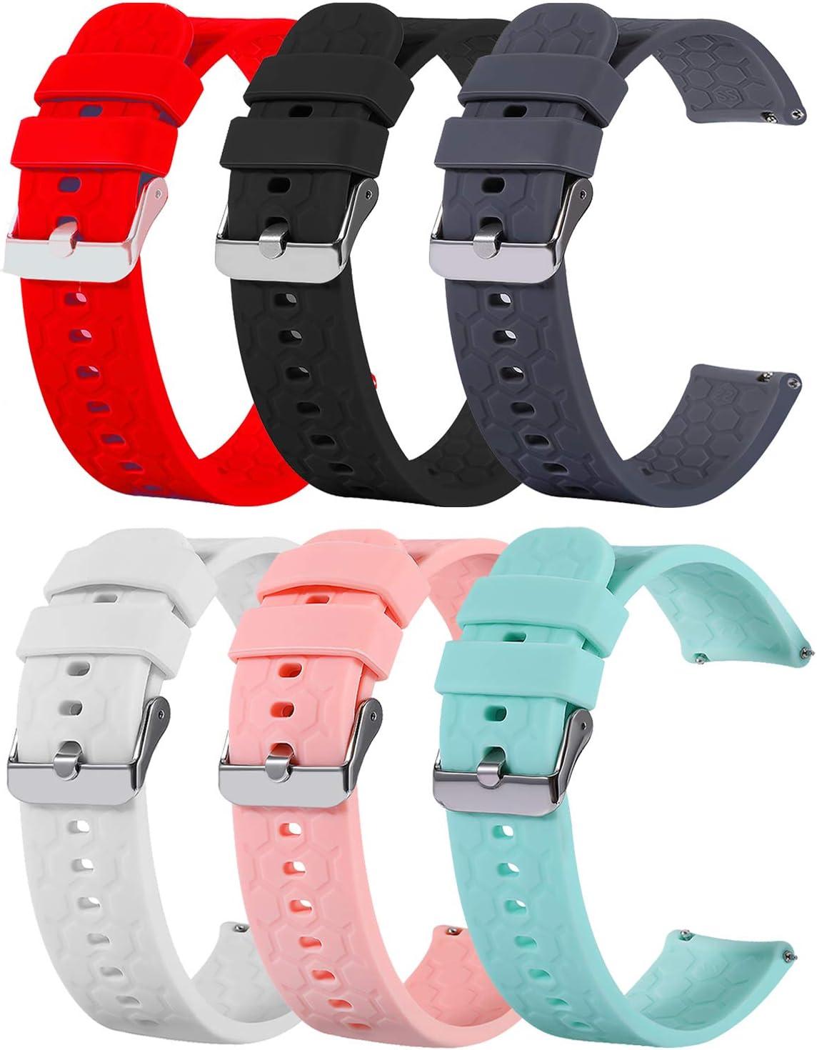 Ruentech - Correa de Silicona Compatible con Garmin Vivoactive 4S/Vivomove 3S Compatible con Vivoactive 4S/Vivomove 3S GPS Smartwatch Wristband Accessories