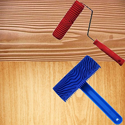 syroviatm-2-pcs-39-graining-painting-tool-with-handle-rubber-7-empaistic-wood-pattern-paint-roller