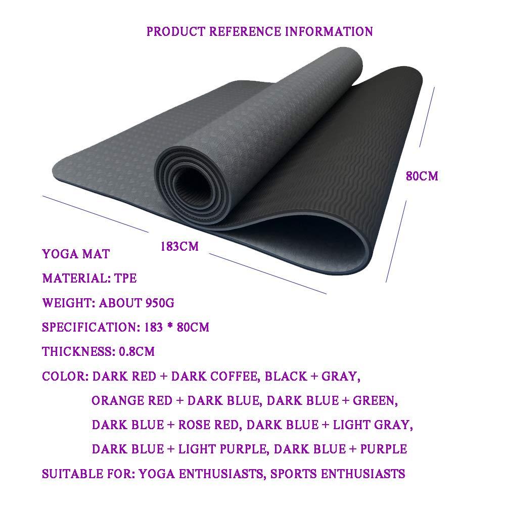 Estera de Yoga y Pilates de 80 cm Ultra Ancha de Doble Capa ...