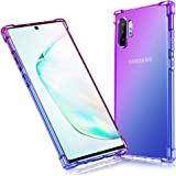 YOFUNTLE Compatible for Samsung Galaxy Note 10 Pro Case,Shock Absorption Flexible TPU Phone Case Cover Reinforced Corners Slim Protective Cases for Samsung Galaxy Note 10 Pro/Note 10+ Purple Blue