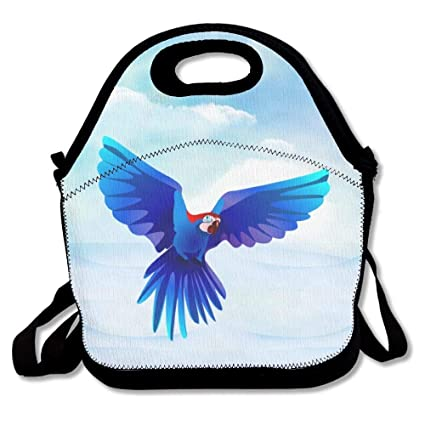 ddc4203cf5b1 ... size 40 daf7f 4e813 crysss Blue Parrot Punk Lunch Bag Reusable Lunch  Tote Lunch Box Handbag ...