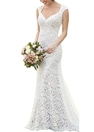 Alilithz Sexy Sweetheart Lace Wedding Dresses For Bride