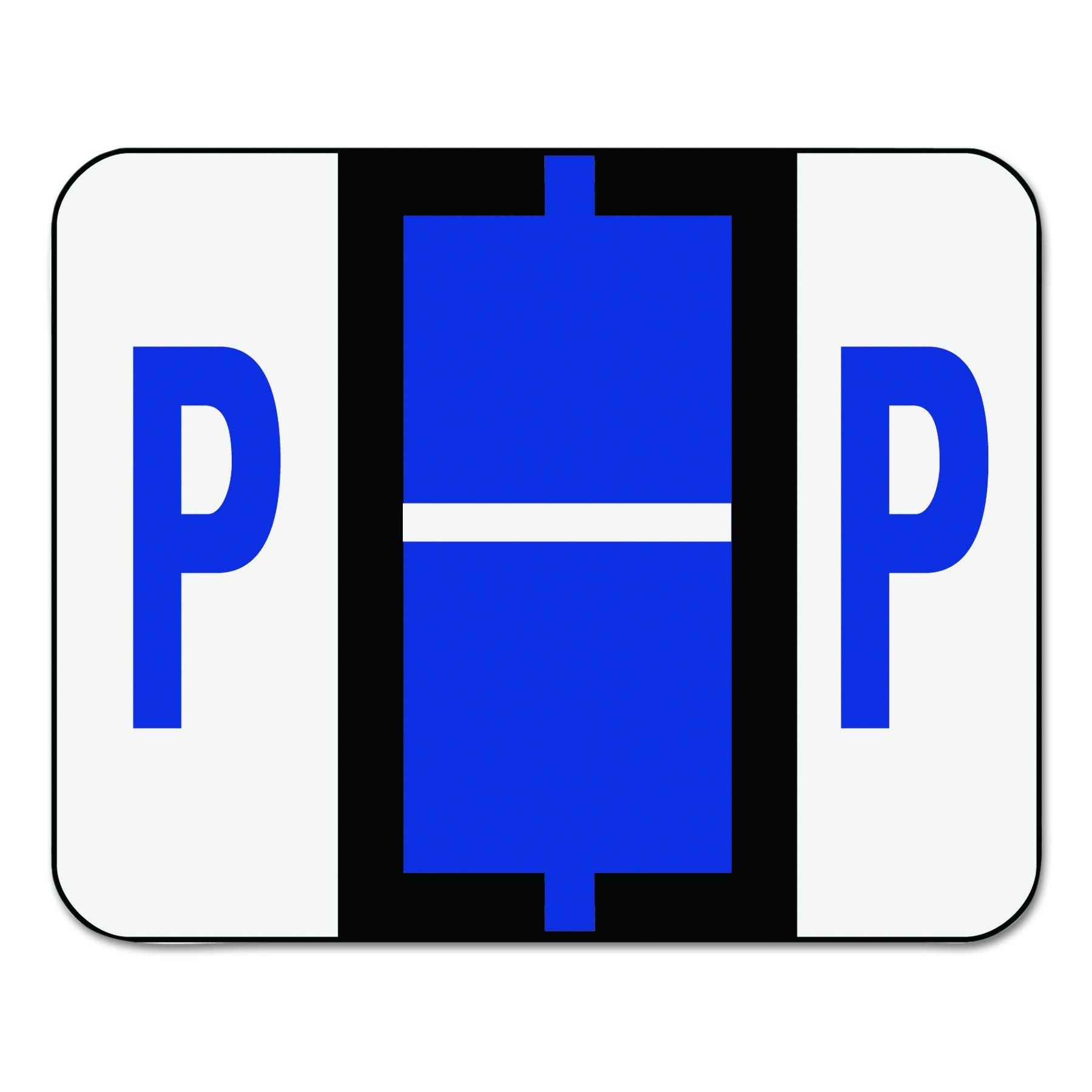 Smead 67086 A-Z Color-Coded Bar-Style End Tab Labels, Letter P, Violet, 500 per Roll