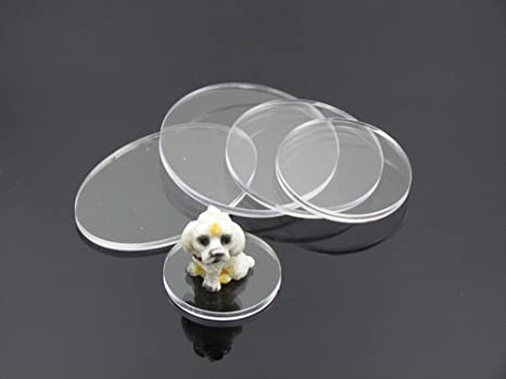 """5 Pcs 5 1//2/"""" Dia x 1//8/"""" Thick Laser Cut Clear Cell Cast Acrylic  Disks"""