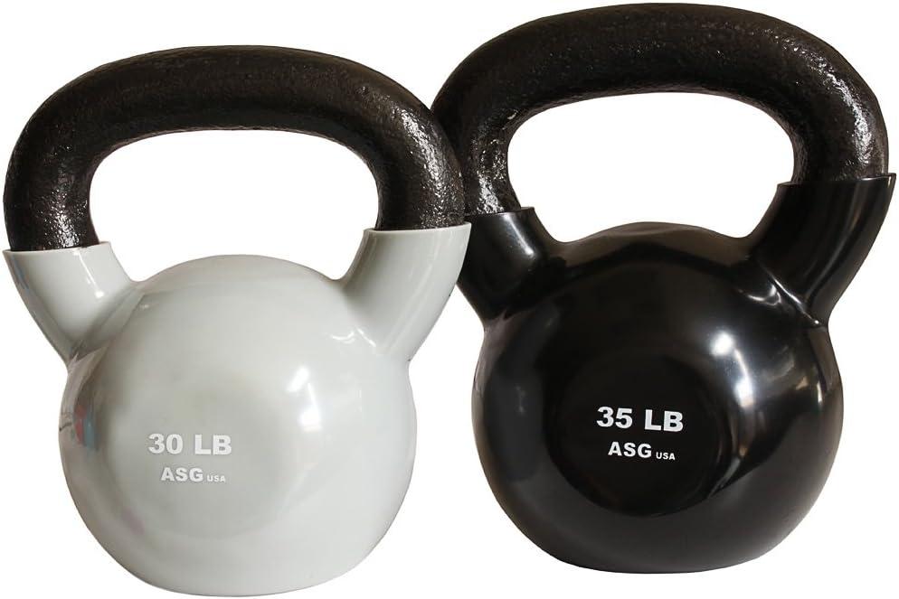 Ader Vinyl Kettlebell Set- 30, 35 Lb