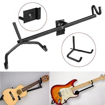 Soporte horizontal de pared para guitarra eléctrica, acústica, clásica, bajo y ukelele, de JJOnlinestore: Amazon.es: Instrumentos musicales