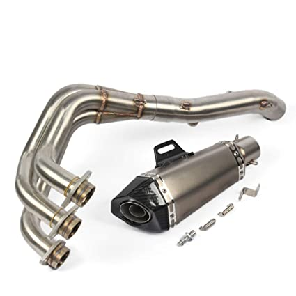 Amazon com: ZAIXU Motorcycle Full Exhaust System Stainless Steel