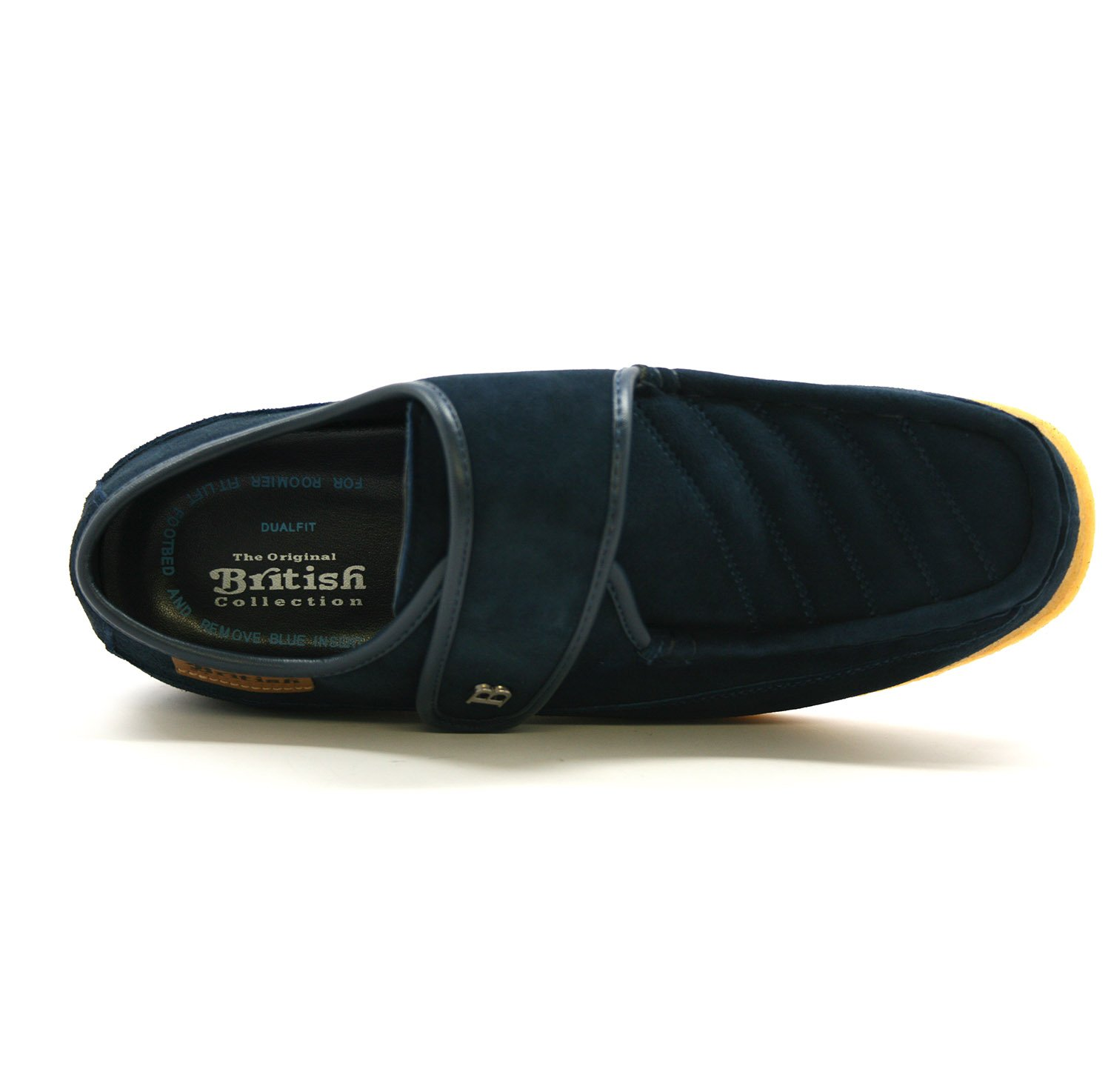 British Collection Royal Old School Slip On Shoes 9.5M Navy Leather by British Collection (Image #6)