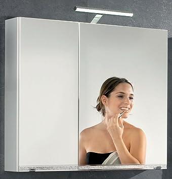 Kesper Badmöbel 7917010000001000 Spiegelschrank Brillant, 2 Türen