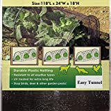 TYLife 1090-3215 Netting Grow Fleece Garden Easy Tunnel Cloche,Plant Cover for Growing Plants with Hoop, 10' Long x 18'' High