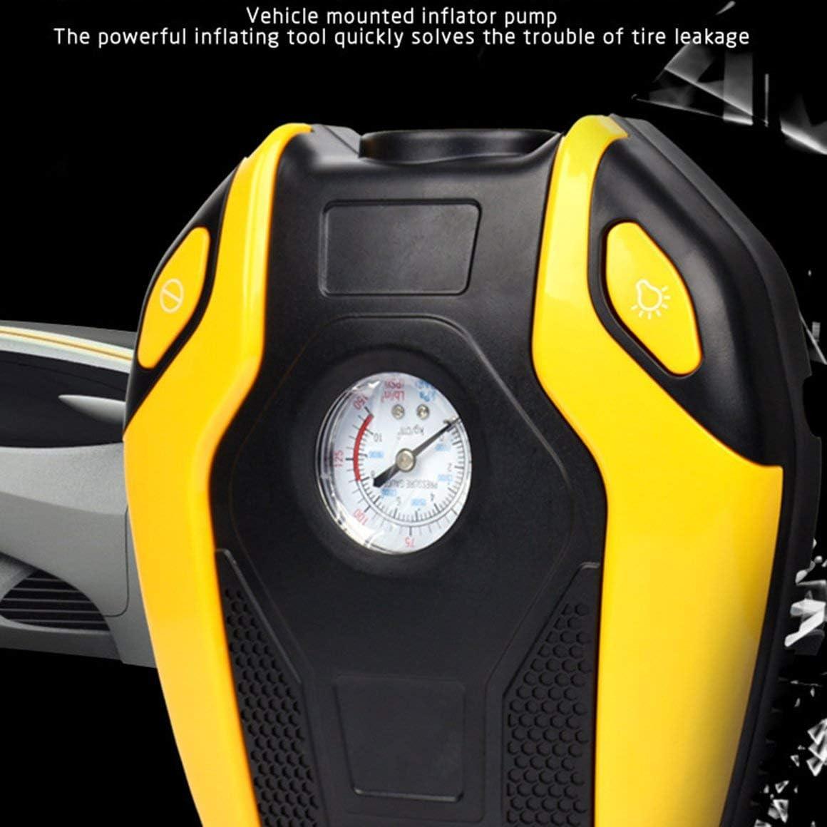 Funnyrunstore Compresseur dair gonflable de pompe de bicyclette de voiture daffichage num/érique de Digital 12V 220V de pompe de v/élo de pneu dautomobile de voiture /électrique