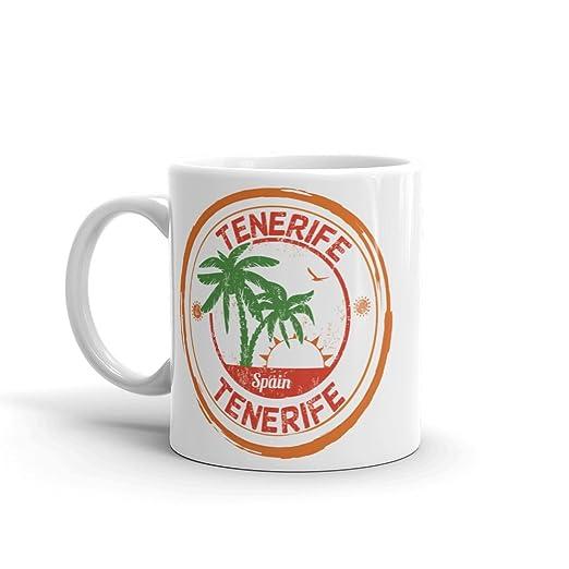 DV Mugs Ltd Tenerife España - Taza de té y café (295 ml), diseño ...