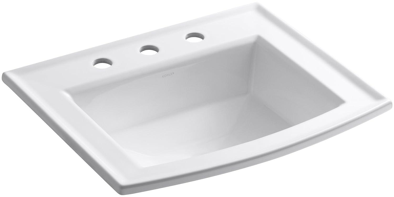 KOHLER K-2356-8-0 Archer Self-rimming Bathroom Sink with 8-Inch ...