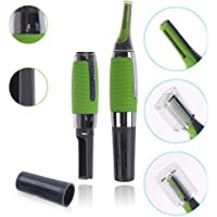 Figment Cordless Touches Nose Trimmer All In One Personal Trimmer,Hair Trimmer Cordless Great For Travel, Nose Hair Trimmer With Built In Led Light nose trimmer for mens (Green)