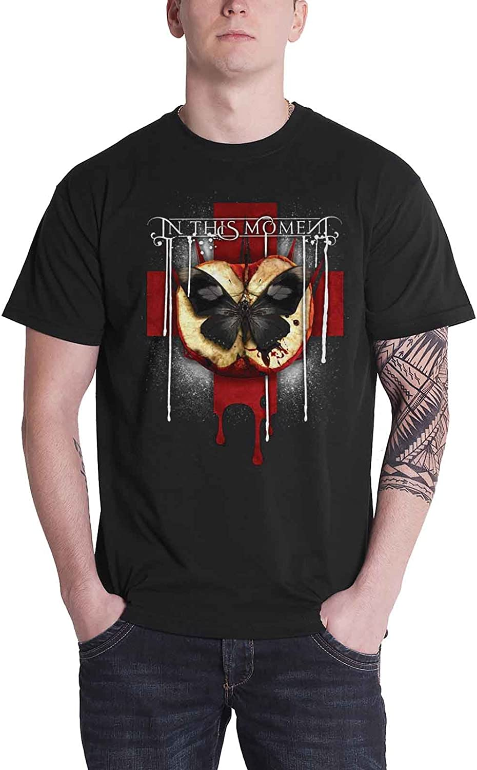 In This Moment T Shirt Rotten Apple Band Logo Official Mens Black
