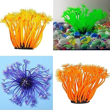 Suave ržservoir de peces acuario coral artificial submarina džcoration planta: Amazon.es: Productos para mascotas