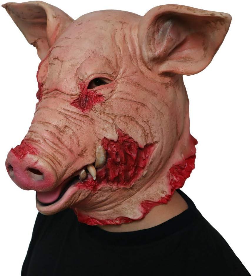 Máscara de látex de cerdo para Halloween, máscara de cerdo de ...
