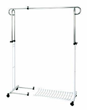 Haku Möbel 43075 - Perchero vestidor con ruedas (tubo de ...