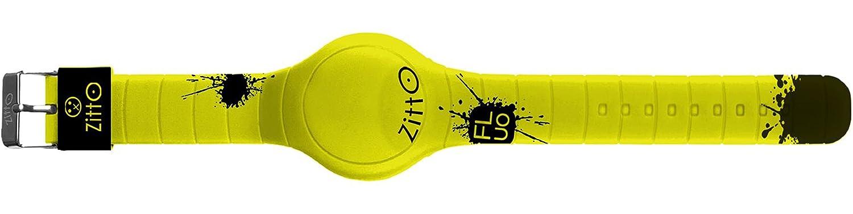 Reloj digital ZITTO FLUO en silicona amarilla PUNCHYYELLOW-MAX-GD