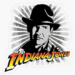 "Lplpol Stickers Indiana Jones Gift Decorations 5.5"" Vinyl Stickers, Laptop Decal, Water Bottle Sticker"