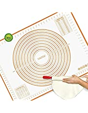 Large Silicone Pastry Mat - Walfos Non-Stick Baking Mat Fondant Mat with Measurement, Non-Slip Rolling Mat, Great for Rolling Dough, Cookie & Baking