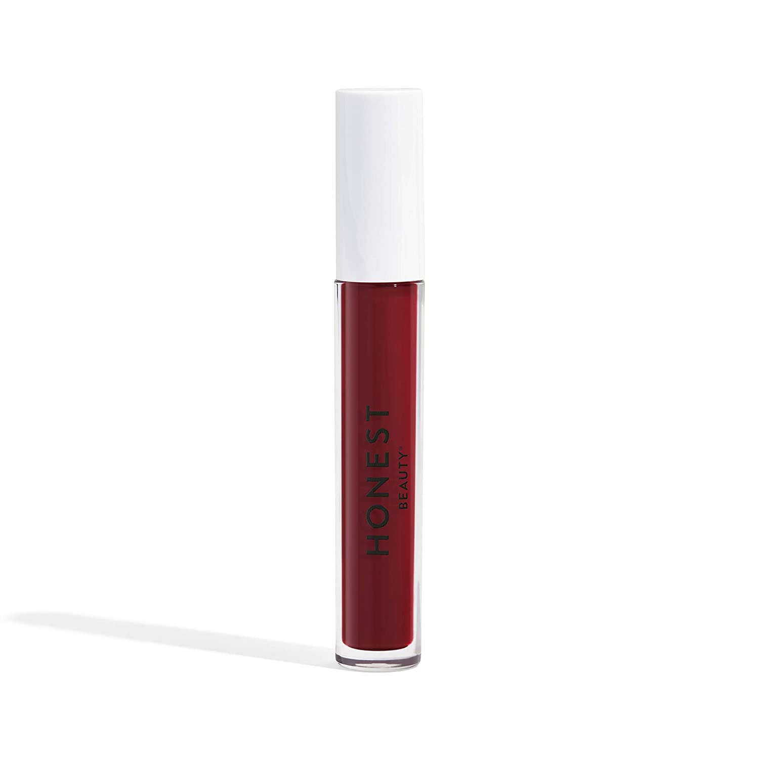 Honest Beauty Liquid Lipstick, Love | Vegan | Hydrating All-Day Wear & Flex Feel | Synthetic Film Formers Free, Silicone Free, Cruelty Free | 0.12 fl. oz.