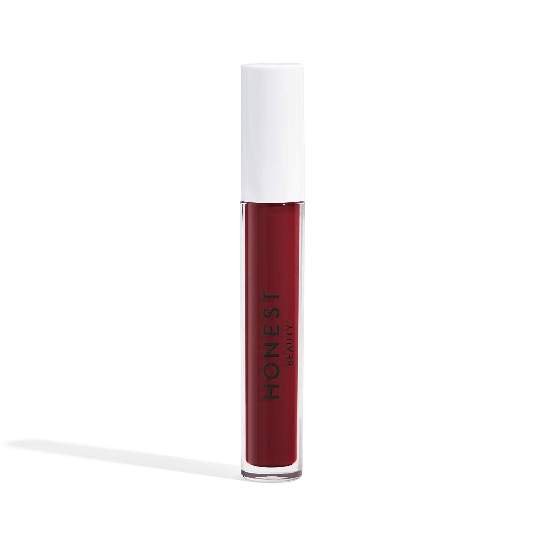 Honest Beauty Liquid Lipstick, Love | Vegan | Hydrating All-Day Wear & Flex Feel | Synthetic Film Formers Free, Silicone Free, Cruelty Free | 0.12 fl. oz.