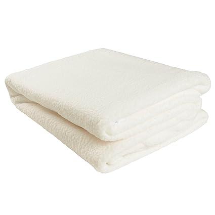 Se puede calentar en el Calientacamas de lana forro polar cálido aborregado térmica para cama individual