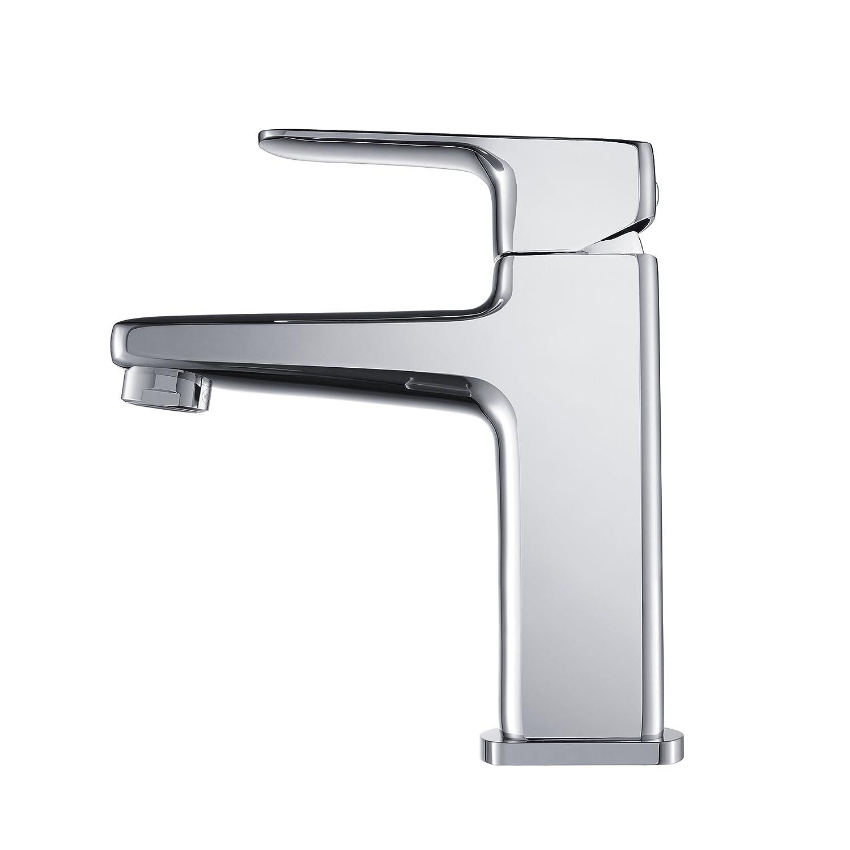 Kraus KEF-15501CH Virtus Single Lever Basin Bathroom Faucet Chrome ...