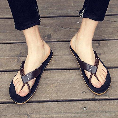 43 ciabattine marea scarpe da marrone gli personalizzate cool di maschio campi nbsp;Pantofole spiaggia antiscivolo Fankou estate uomini e esterno estate FvxpUqw