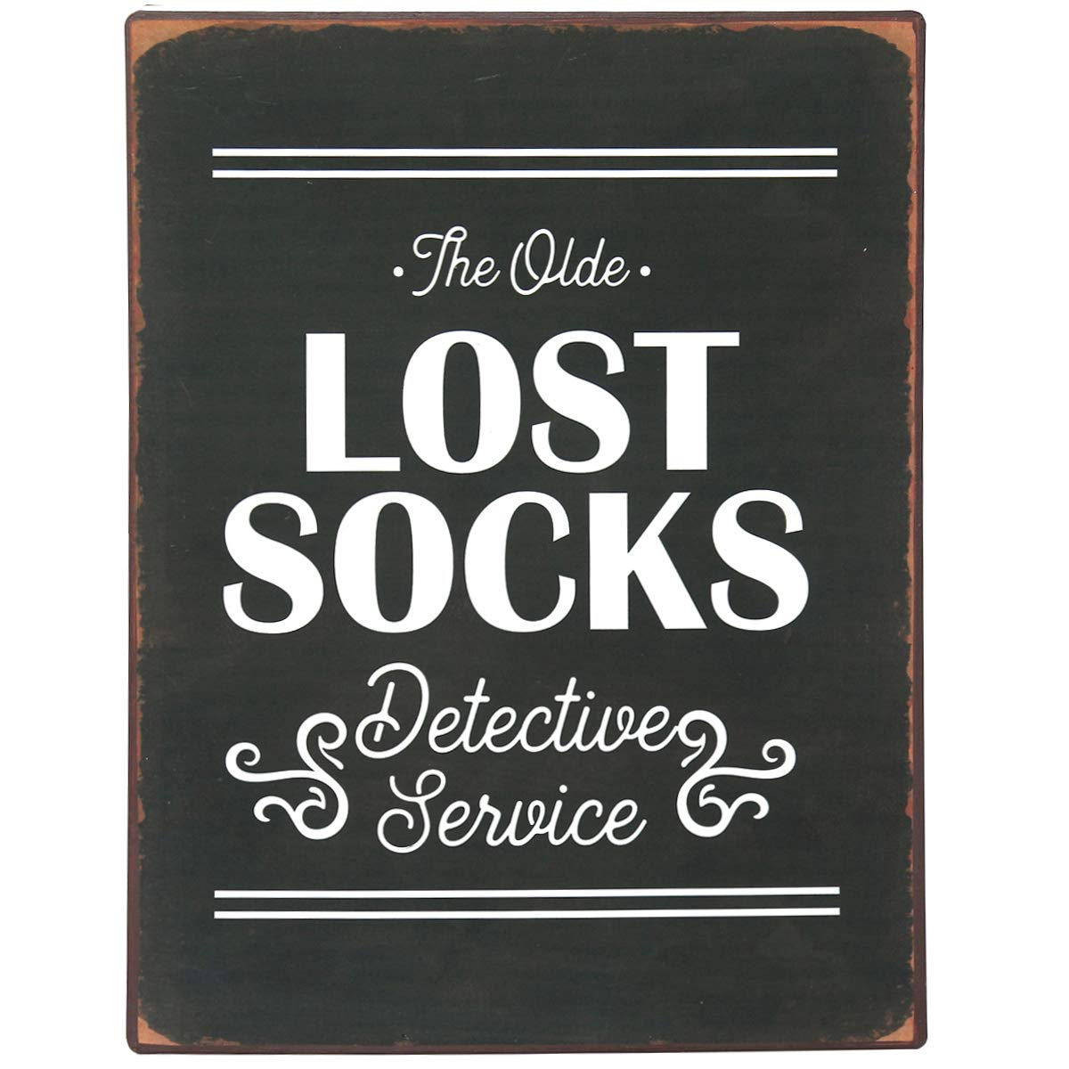 Nikky Home Lost Socks Vintage Metal Wall Plaque Laundry Room Signs