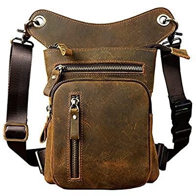 a0a64447bc Genda 2Archer Mens Leather Messenger Riding Hip Waist Pack Drop Leg Cross  Over Bag durable service