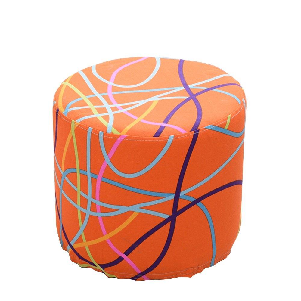 Xin-stool Fabric sofa stool/European shoe bench/low stool/Multifunctional footstool/Stylish stool/Sofa Stool/Coffee Table Stool/Bed stool Fashion dressing stool/3835cm (Color : C)