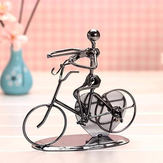 SPFAZJ Navidad Musical Caja Bicicleta Banda Creativa Inicio artesanía Hierro Hombre Moto Regalo Caja de música: Amazon.es: Jardín