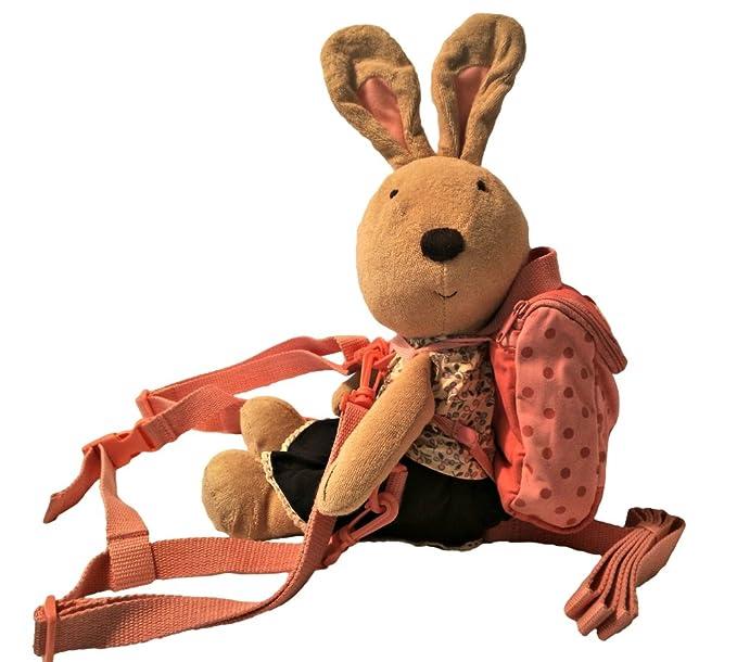 Bunny Buddy - Juego de mochila y arnés rosa rosa claro: Amazon.es ...