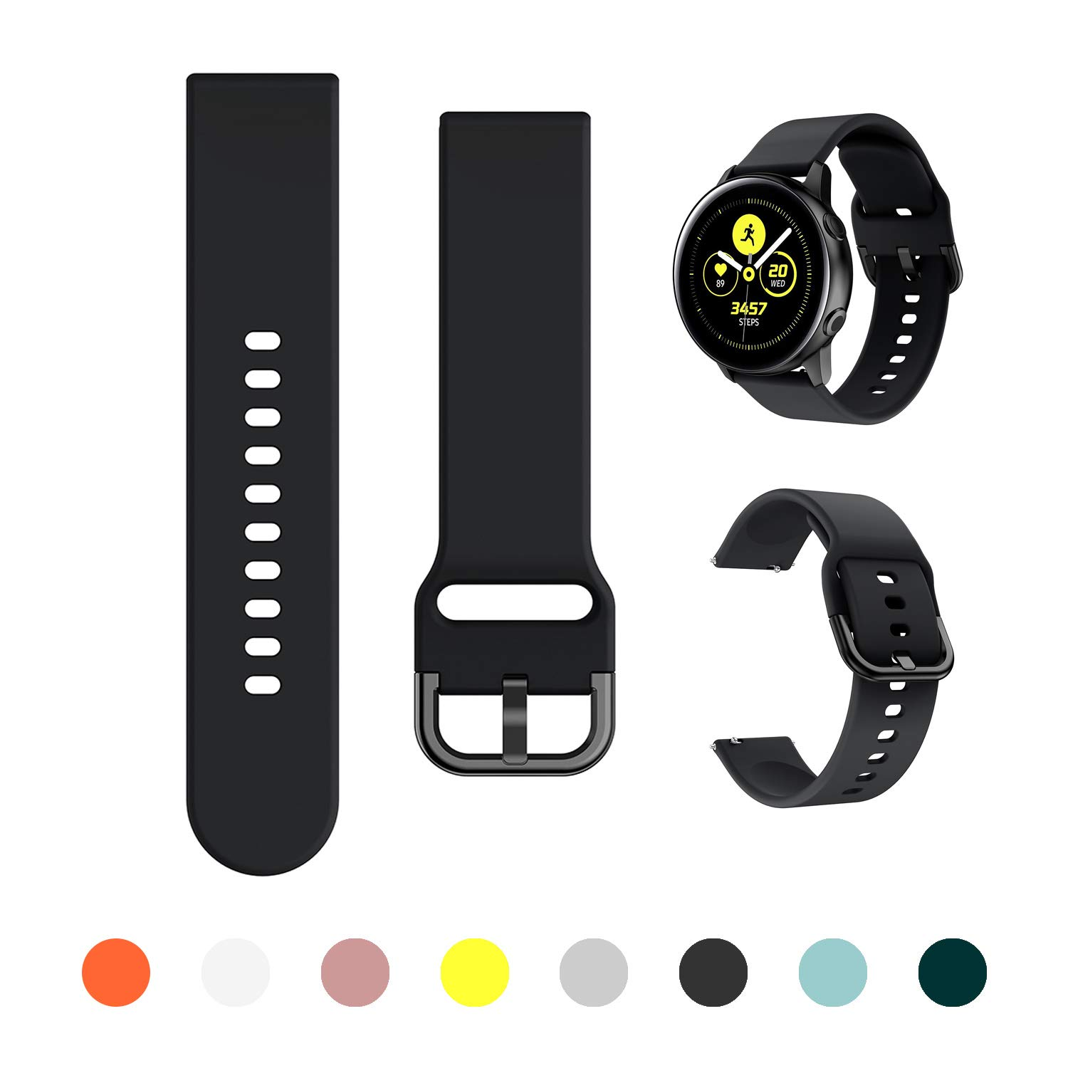 Malla Para Galaxy Watch Active/active2 40mm/44mm Negro