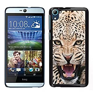 // PHONE CASE GIFT // Duro Estuche protector PC Cáscara Plástico Carcasa Funda Hard Protective Case for HTC Desire D826 / Fierce Majestic Leopard Panther /