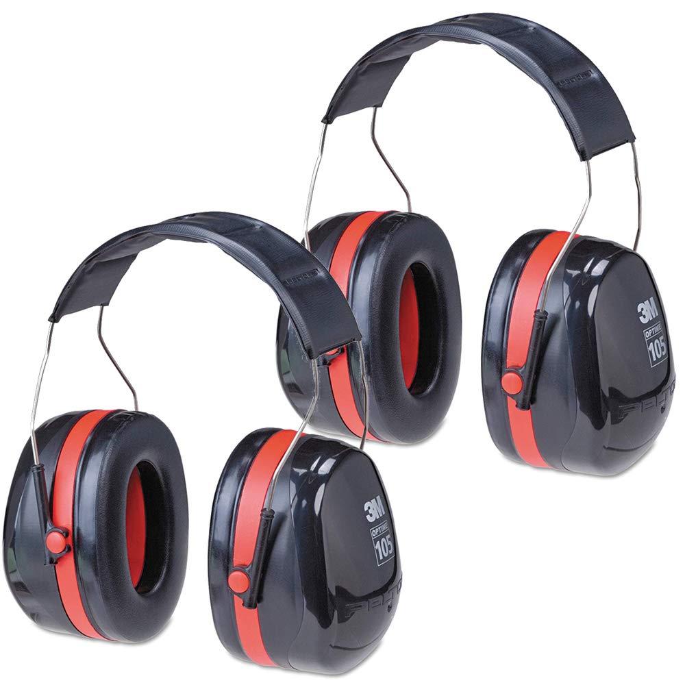 3M Peltor Optime 105 Over the Head Earmuff, NRR 30 dB (2 Pack) by 3M
