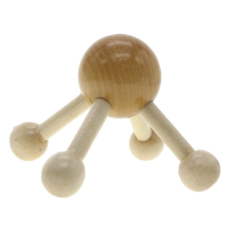 cabeza VANKER 10 10 4 pierna de la bola redonda grande de la cara del cuero cabelludo de madera Masajeador de Espalda cuerpo completo cuello