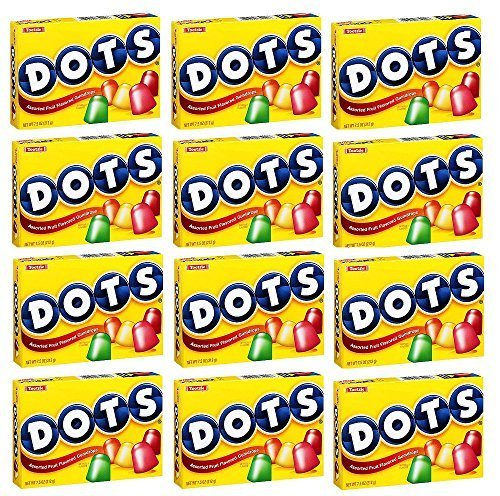 Tootsie Dots Assorted Fruit Flavored Gumdrops: 12 Packs of 7.5 Oz - JVS by Tootsie Roll
