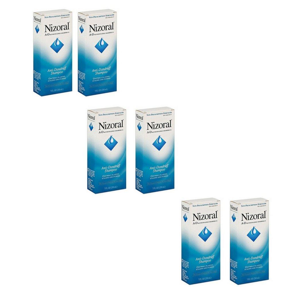 Nizoral A-D Anti-Dandruff Shampoo (7 Oz) (6 qty)