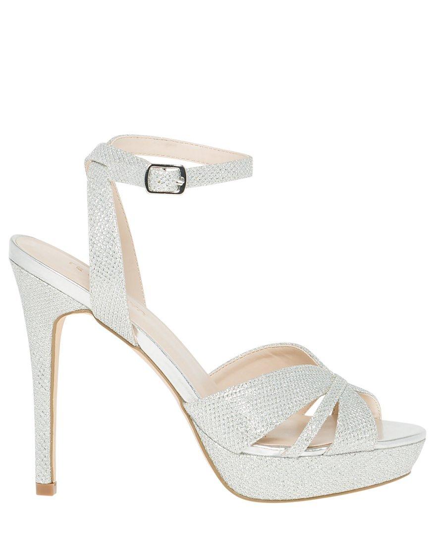 LE CHÂTEAU Women's Glitter Mesh Platform Sandal 343509