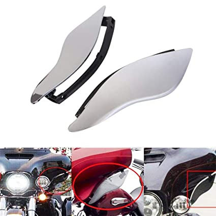 Smoke Abs Adjustable Air Deflectors Side Wing Cover For Harley Street Glide Models Electra Glide Tri Glide Models 2014-2017 Motorcycle Accessories & Parts
