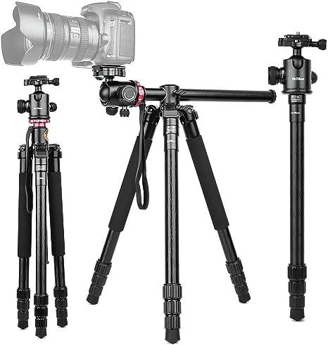 Amazon.com: Trípode de viaje ligero para cámara, soporte ...