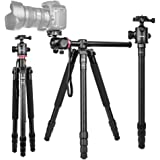 """360°Horizontal Rotation Professional Travel Camera Tripod, Portable Projector Stand with 360°Panorama Ball Head,1/4"""" Quick Re"""