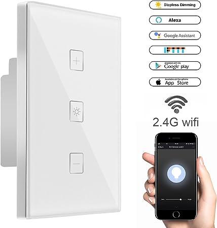 1 Way Smart WiFi LED-Licht Power Wireless-Schalter für Alexa Google APP Home AS
