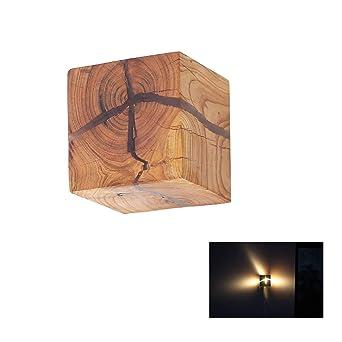 Hoiho Bois Crack Split Bois Mur Lampes Creative Originale En Bois