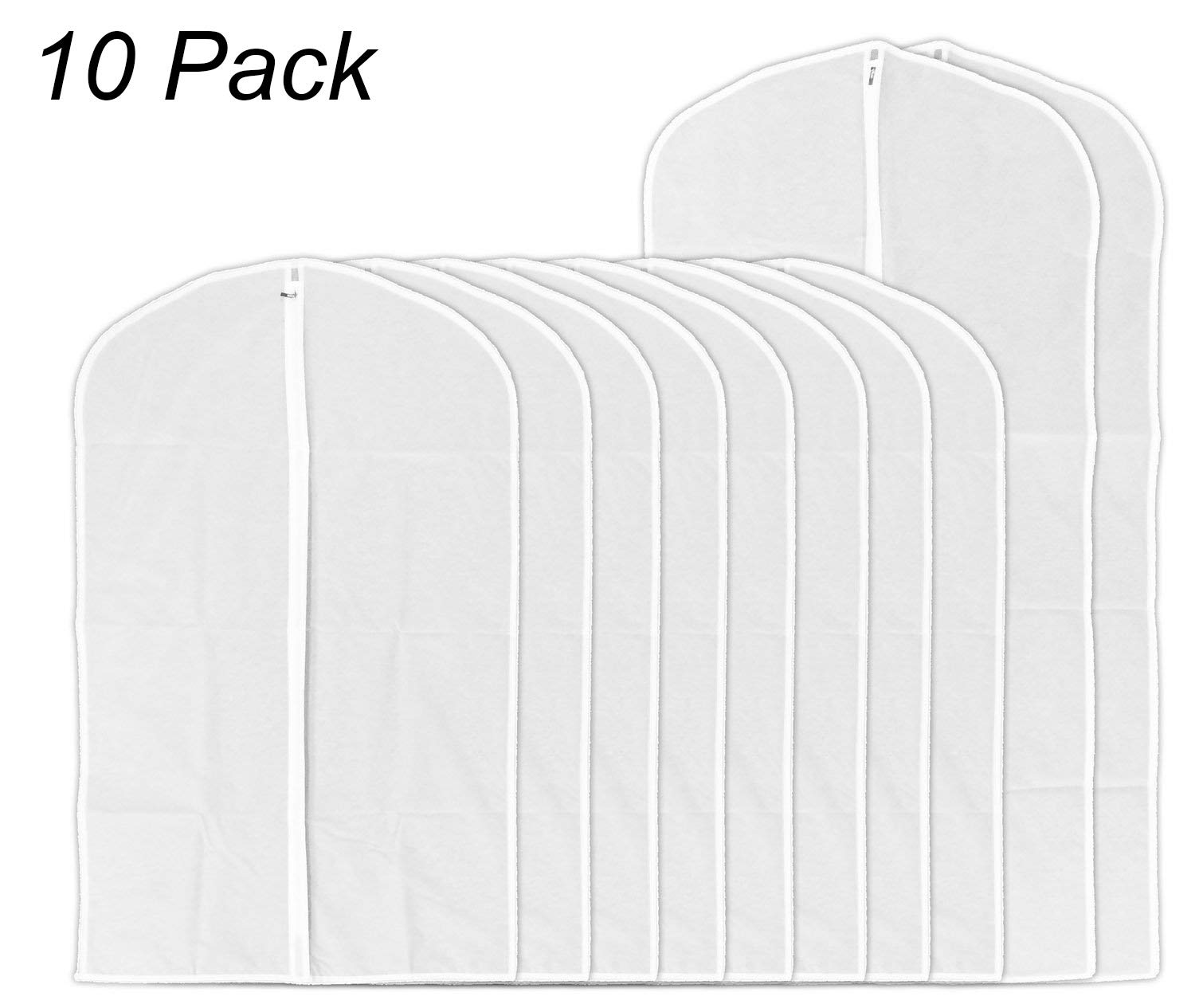 AOFUL Garment Cover Bag, Translucent PEVA Clothes Covers Dustproof Organizer Storage Protector Pack of 10 (8 Medium + 2 Large)