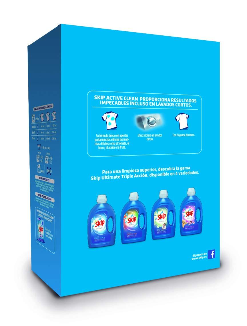 Skip Active Clean Detergente en Polvo - 90 Lavados: Amazon.es ...